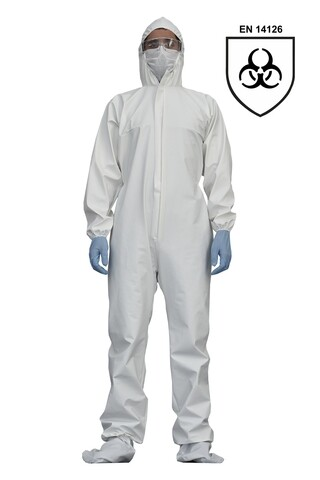 Combinezon de protectie impermeabil, STANDARD EN 14126, marimea XL