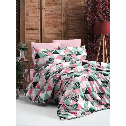 Lenjerie de pat pentru doua persoane, Jungle Bedora, 4 piese, 100% bumbac