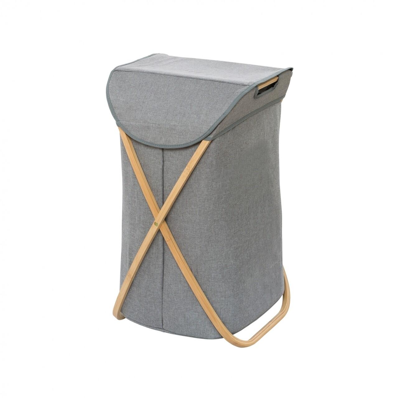 Coș pentru rufe, Wenko Bahari, bambus, 79 l