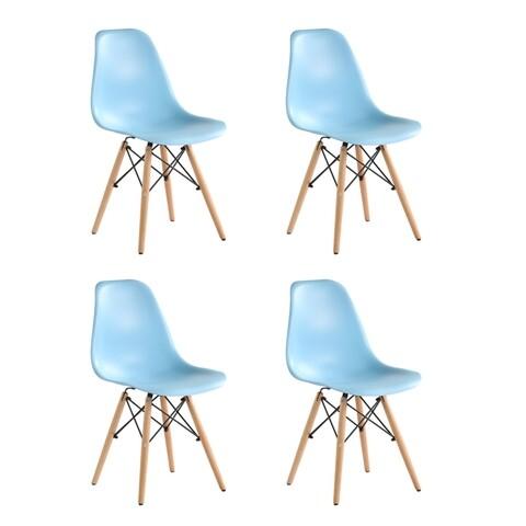 Set 4 scaune Truly, Heinner, albastru