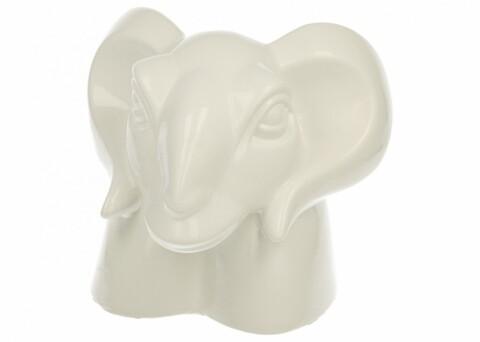 Decoratiune Goat Head, Duo, 20 x 19 cm, ceramica, alb