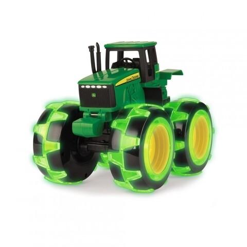 Tractoras cu buton John Deere, verde