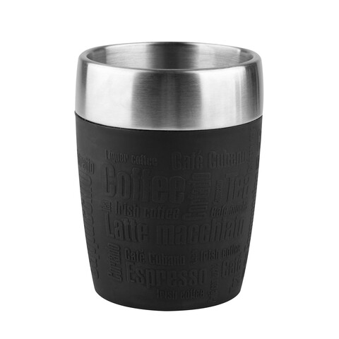 Cana termos Tefal, 200 ml, inox/silicon, negru