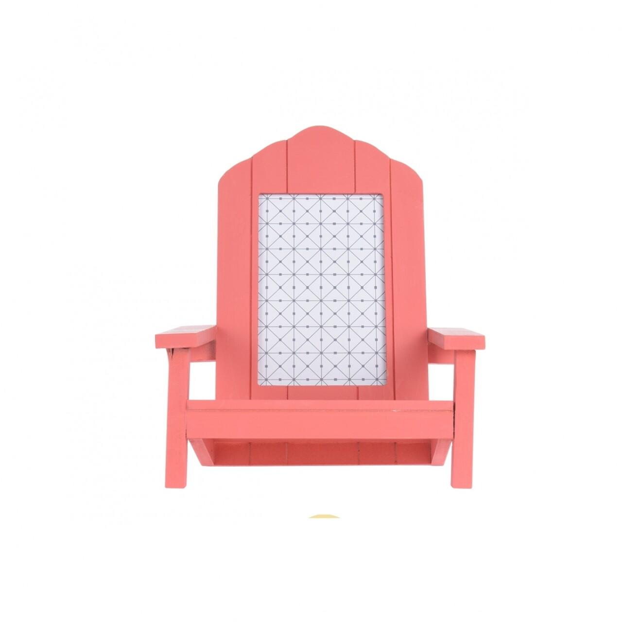 Ramă foto Beach Chair, 20 x 19 x 23 cm, MDF, corai