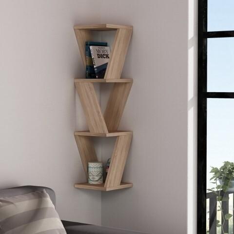 Raft pentru perete, Homitis, Zena - Oak, 22x22x85 cm