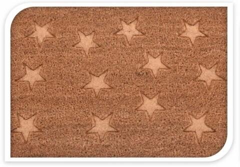 Covoras de intrare din fibra de cocos, 60x40 cm Small Stars