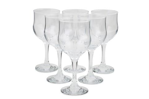 Set 6 pahare vin Clasic, Pasabahce, 16.5 x 6.5 x 7.4 cm, sticla, transparent