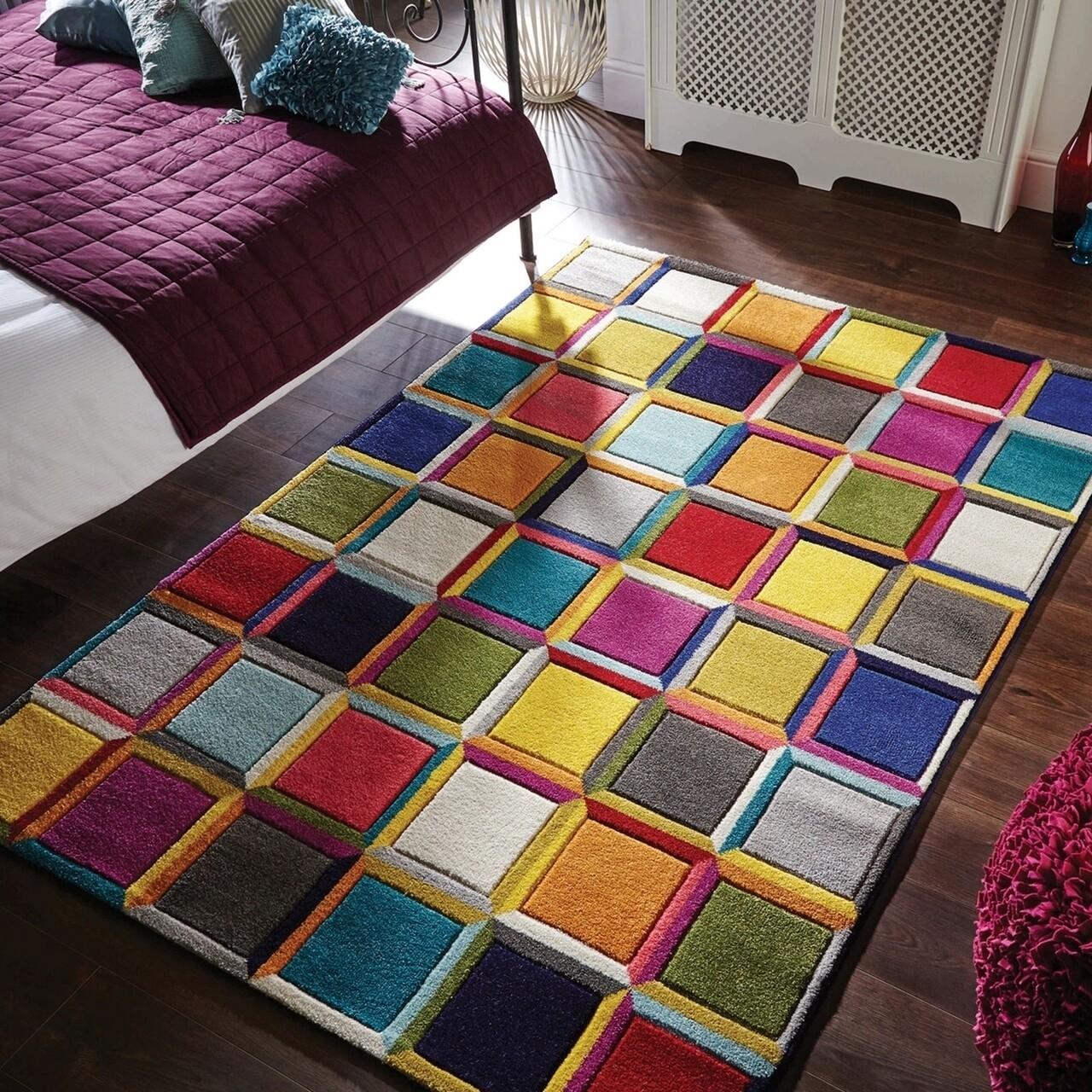Covor Spectrum Waltz Multi, Flair Rugs, 60 x 230 cm, 100% polipropilena, multicolor