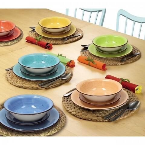 Set serviciu de masă din ceramică, 18 piese, Tognana, Art Pepper
