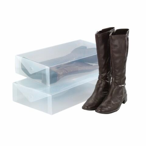 Set 2 cutii pentru depozitare încălţăminte Wenko