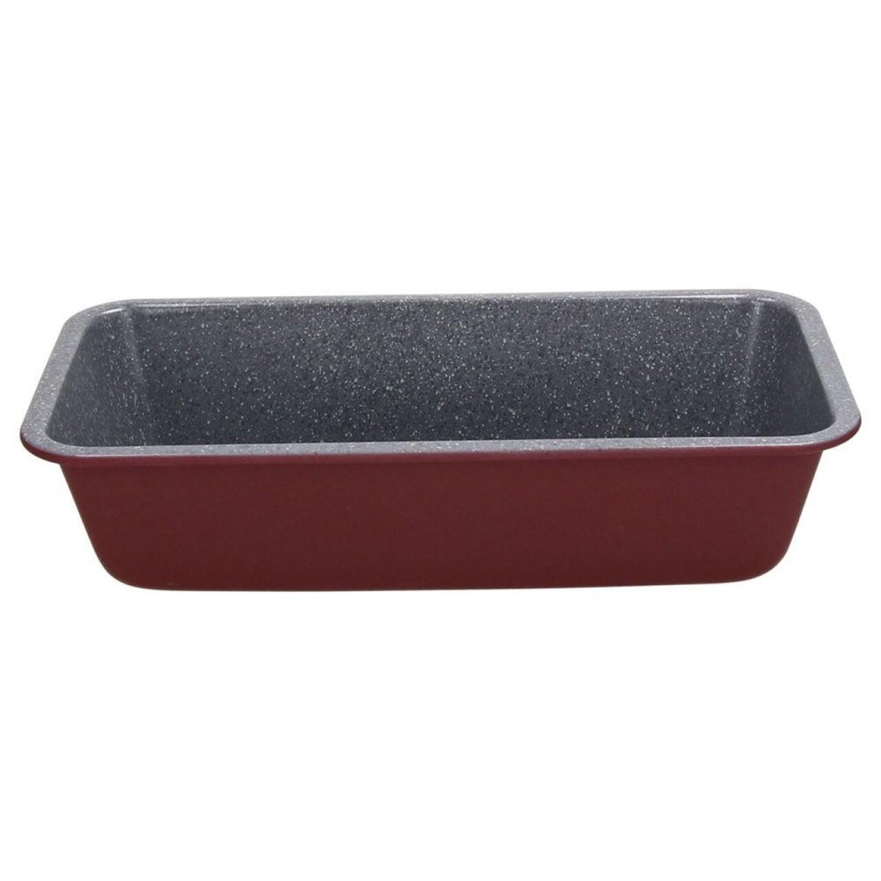 Tava de copt cozonac Sweet Cherry Red, Tognana, 13.5 x 28.5 x 7 cm, otel carbon, burgund/gri