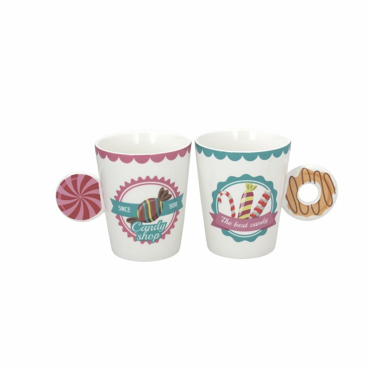 Set 2 cani Relax Candy, Tognana, portelan, multicolor
