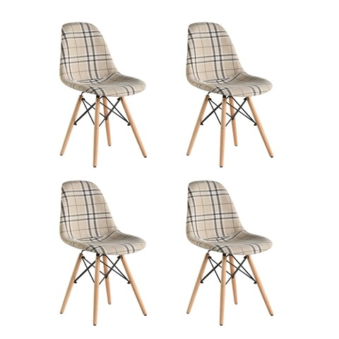Set 4 scaune tapitate Truly, Heinner, crem