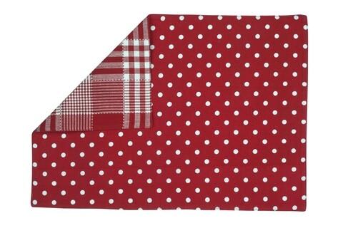 Suport pentru farfurie cu 2 fete Dots, Heinner, 33x48 cm, bumbac, multicolor