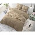 Lenjerie de pat dubla Royal Luxury Taupe, Royal Textile, 3 piese, 200 x 220 cm, 100% bumbac, multicolora