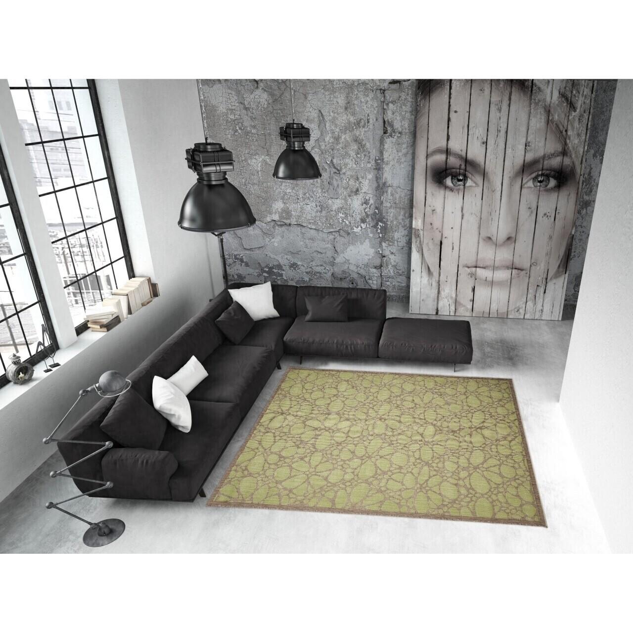Covor indoor outdoor Floorita FIORE GREEN 160X230
