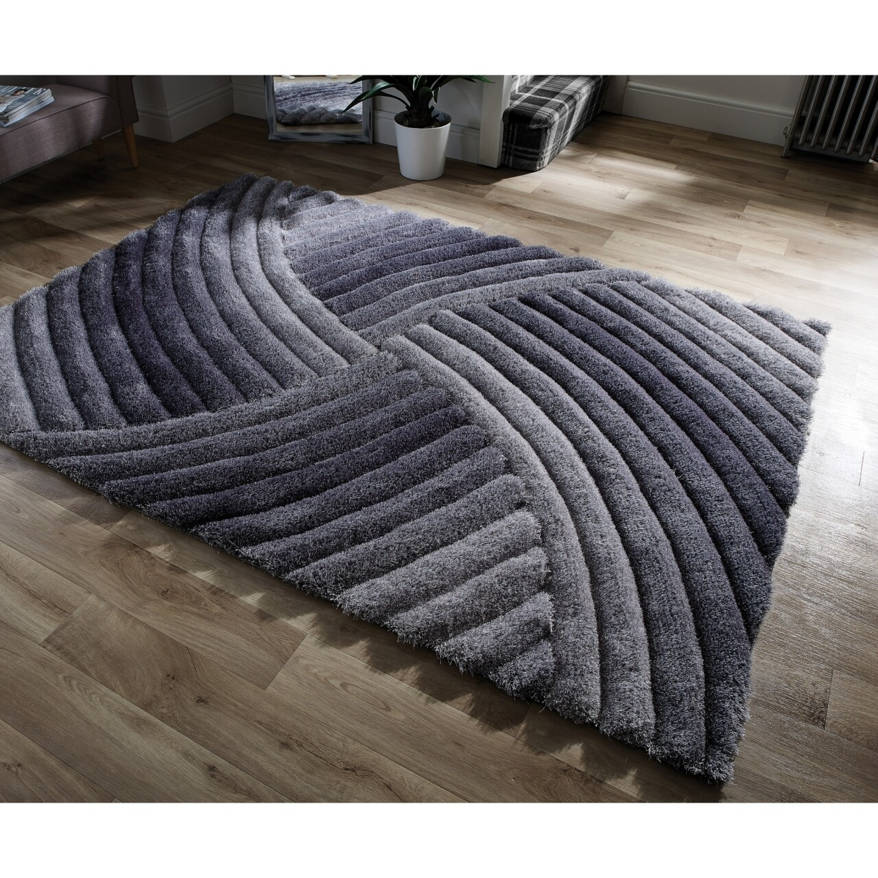 Covor Verge Furrow Grey 80X150 cm