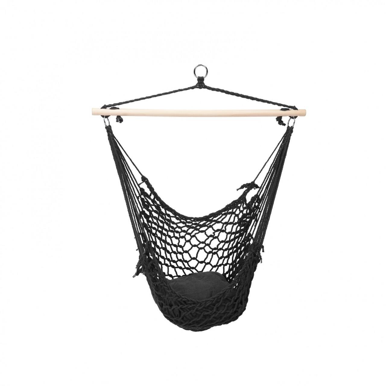 Hamac tip scaun, 40x40 cm, Black