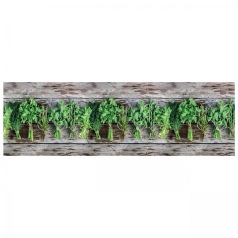 Covor rezistent Webtappeti Aromatica 58 x 240 cm, maro/verde