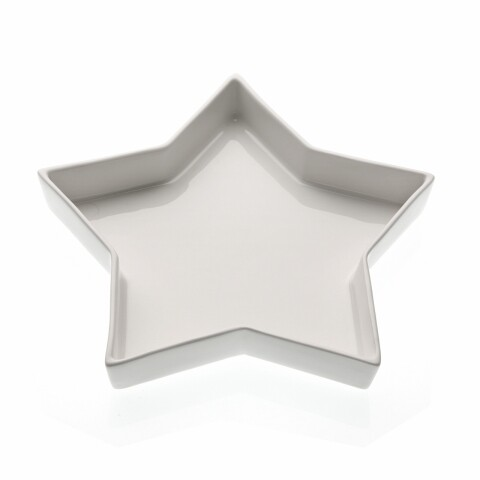 Platou Estrella, 23x23x3 cm, portelan