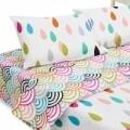 Lenjerie de pat dubla Colors, Heinner Home, 4 piese,  220 x 240 cm, 100% bumbac, multicolora