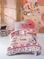 Lenjerie de pat pentru o persoana, 3 piese, 100% bumbac ranforce, Cotton Box, Selfie