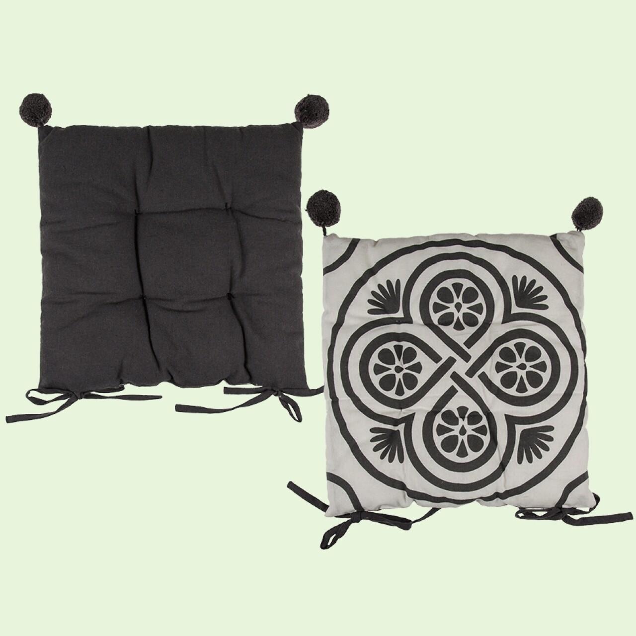 Pernă scaun Mandala Grey
