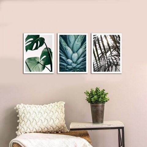 Set 3 tablouri decorative, Alpha Wall, Nature is Blissful, 30x40 cm