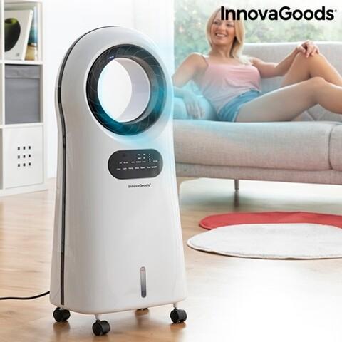 Aparat de aer conditionat fara lama, Evaporativ cu LED O Cool InnovaGoods, 30.5x21.5x76 cm, 90W