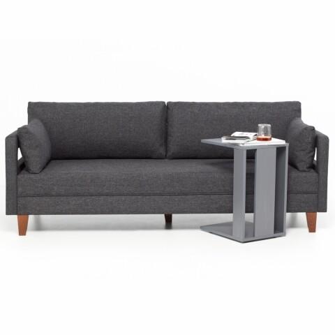 Canapea fixa Comfort Life, Heinner, 3 locuri, stofa, gri