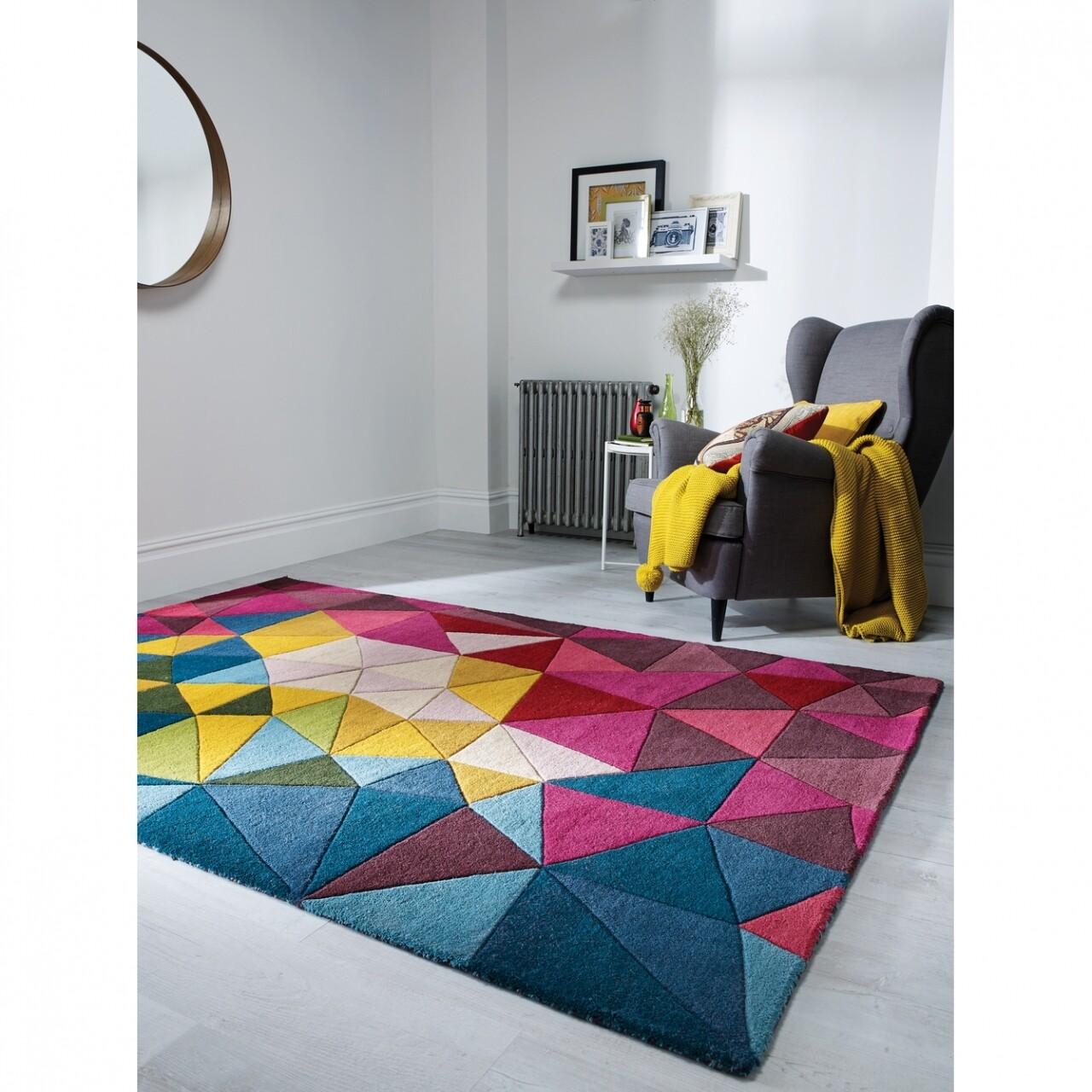 Covor Falmouth Multi, Flair Rugs, 120 x 170 cm, 100% lana, multicolor
