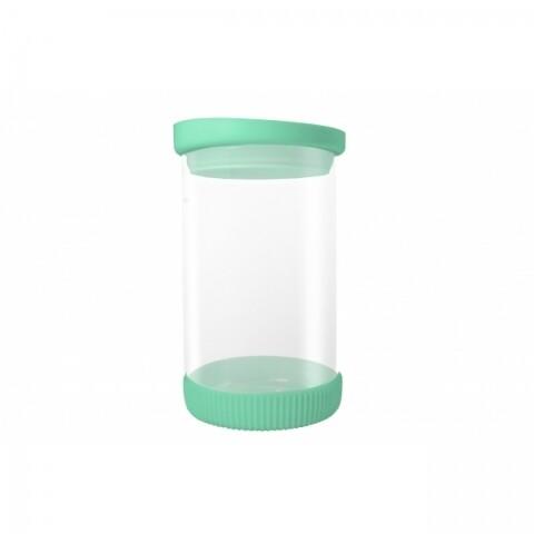 Recipient Green, Jocca, 810 ml, sticla/silicon, transparent/verde