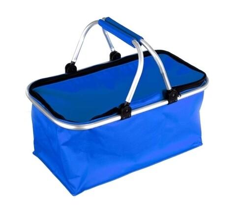 Cos pentru picnic, Camping, Vetro-Plus, 48x28x24 cm, textil/aluminiu, albastru