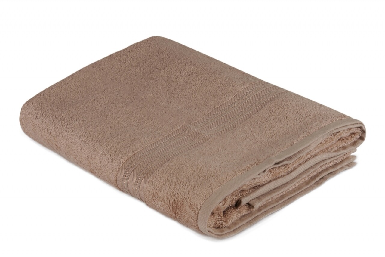 Prosop de baie, Hobby, Lavinya, 70x140 cm, 60% fibra de bambus si 40% bumbac, maro
