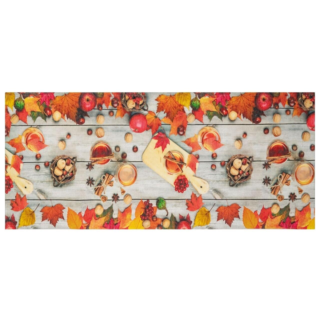 Covor rezistent Webtappeti Rum e Canella 58 x 190 cm, portocaliu/gri