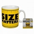 Cana Size Matters, Out of the blue, 450 ml, ceramica, galben/negru