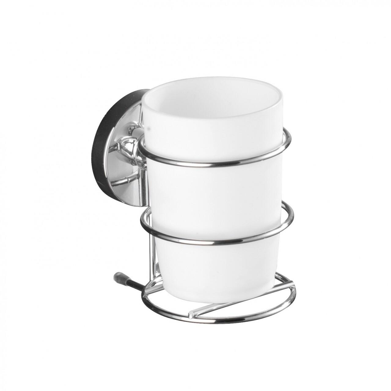 Suport periute de dinti Wenko Vacuum-Loc®, 7.5 x 11.5 cm, otel/polipropilena, argintiu