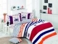 Lenjerie de pat pentru o persoana, Red Navy, Beverly Hills Polo Club, 3 piese, 160 x 240 cm, 100% bumbac ranforce, multicolora