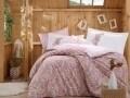 Lenjerie de pat pentru o persoana, 3 piese, 100% bumbac poplin, Hobby, Giulia, roz