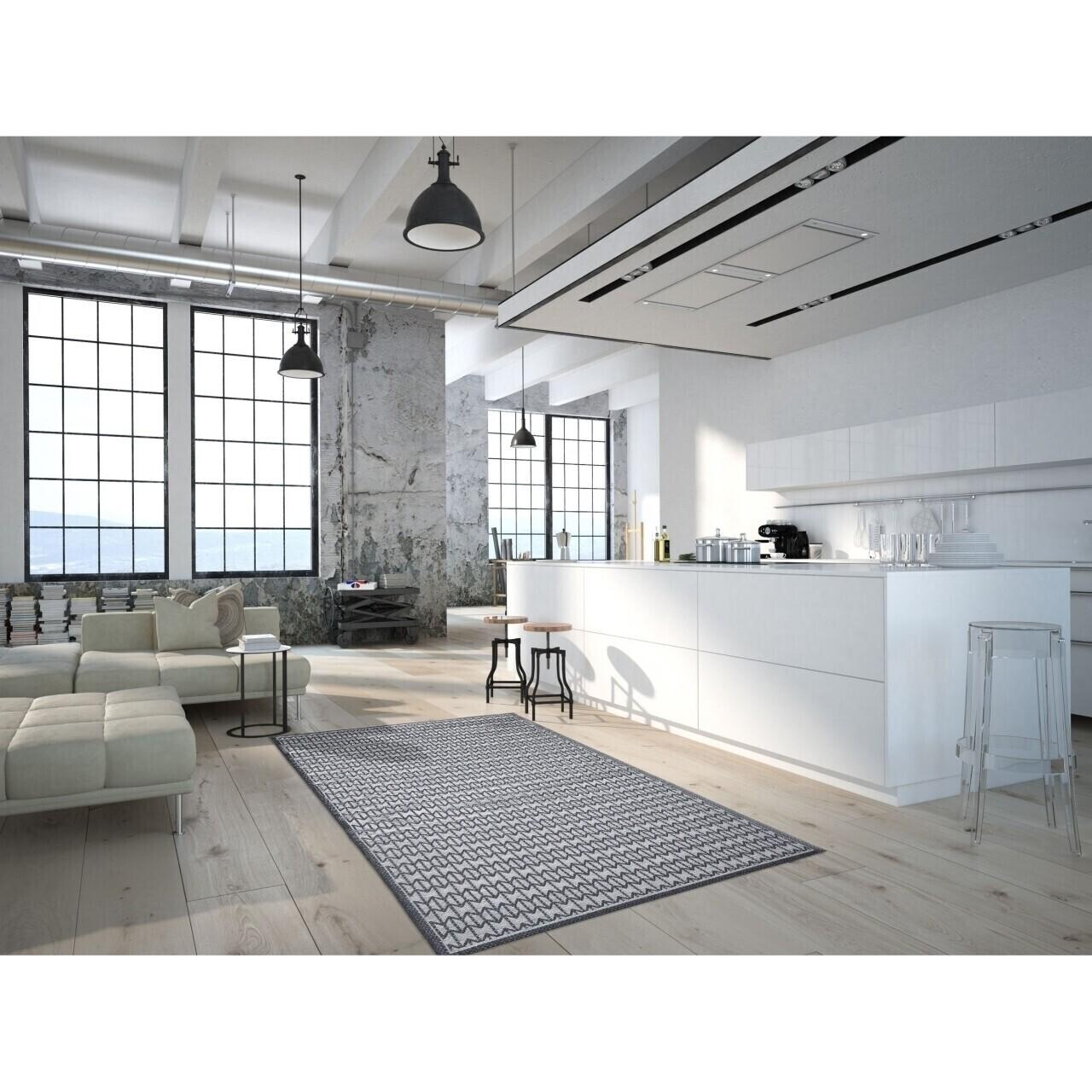 Covor indoor outdoor Floorita STUOIA CHARCOAL 155X230