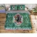 Lenjerie de pat dubla Zelia Green, Melli Mello, 3 piese, 200 x 220 cm, 100% bumbac satinat, multicolor