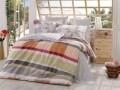 Lenjerie de pat pentru o persoana, 3 piese, 100% bumbac poplin, Hobby, Alanza Grey, multicolora