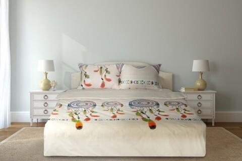 Lenjerie de pat dubla Dream Catcher, Heinner, 4 piese, 200 x 220 cm, 100% bumbac, multicolora
