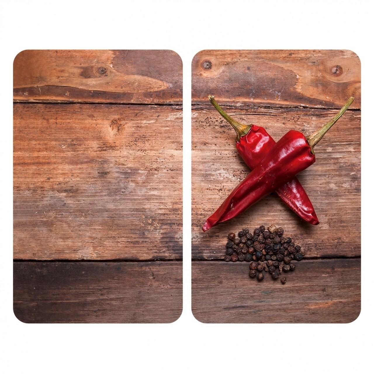 Set 2 protecții universale pentru aragaz, Wenko Pepper