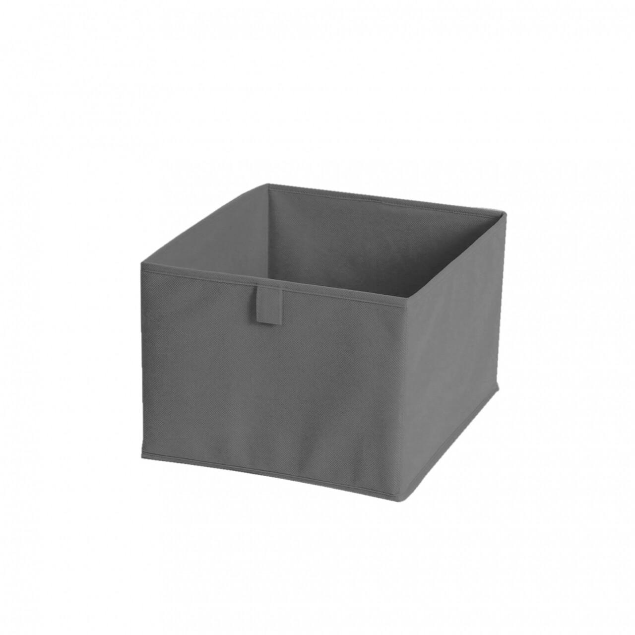 Cutie de depozitare Grey, Jocca, 19 x 30 x 30 cm, PVC, gri