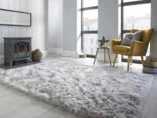 Covor din blana artificiala Sheepskin Grey, Flair Rugs, 160 x 230 cm, 100% acril, gri