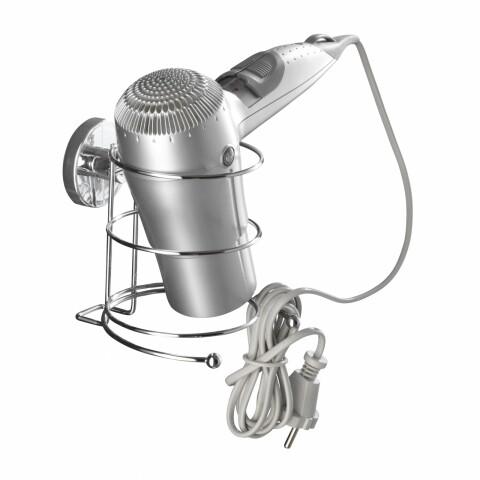 Suport pentru uscător de păr WENKO Vacuum-Loc®, fără găurire și înșurubare