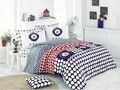 Lenjerie de pat pentru o persoana, Dots, Beverly Hills Polo Club, 3 piese, 160 x 240 cm, 100% bumbac ranforce, multicolora