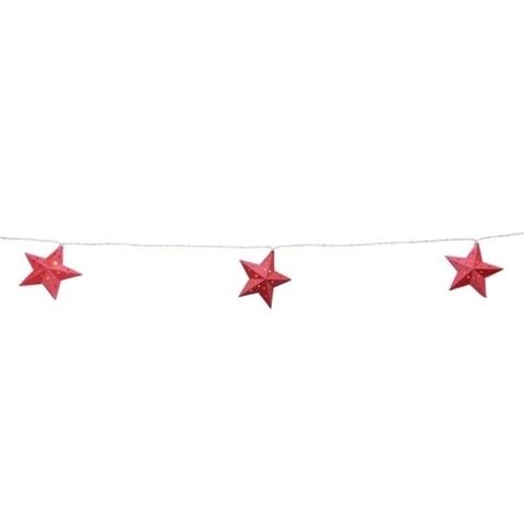 Ghirlanda luminoasa Star, Lumineo, 270 cm, 10 LED-uri, rosu