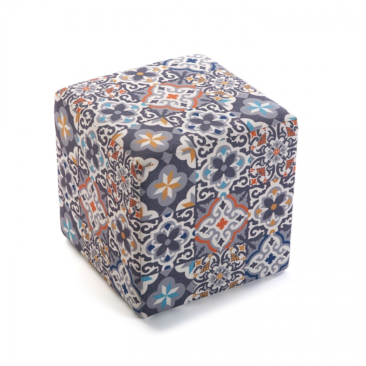 Taburet Alfama, 35 x 35 x 35 cm, poliester, multicolor
